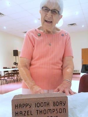Hazel Thompson, of Elmira, recently celebrated her 100th birthday.