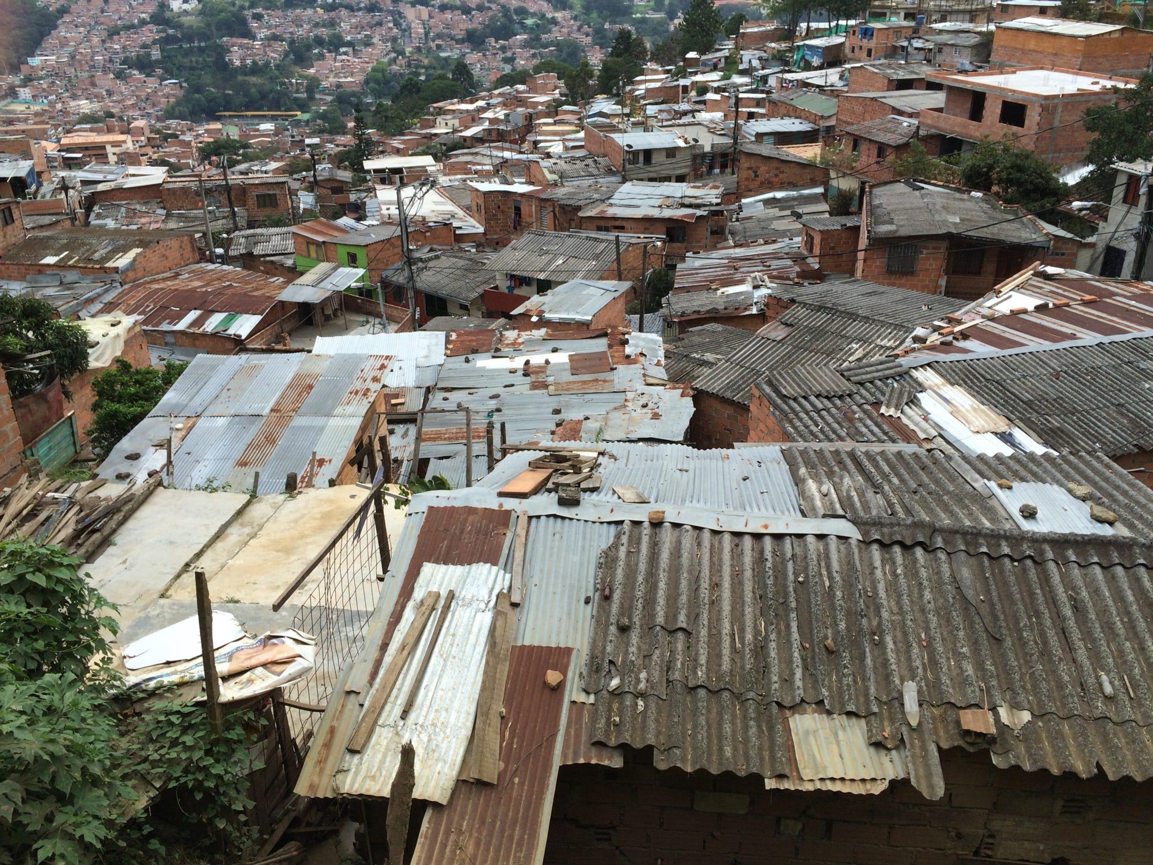 A barrio in Villatina, La Torre, a small community