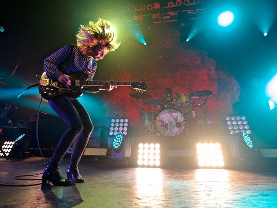 Sleater-Kinney in concert earlier this year in New