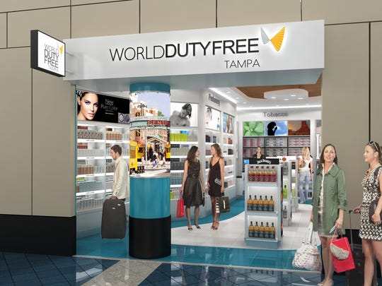 World Duty Free store at Airside E terminal.