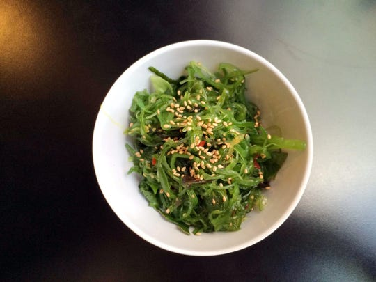 Add a side of seaweed salad to your roll at Harumi