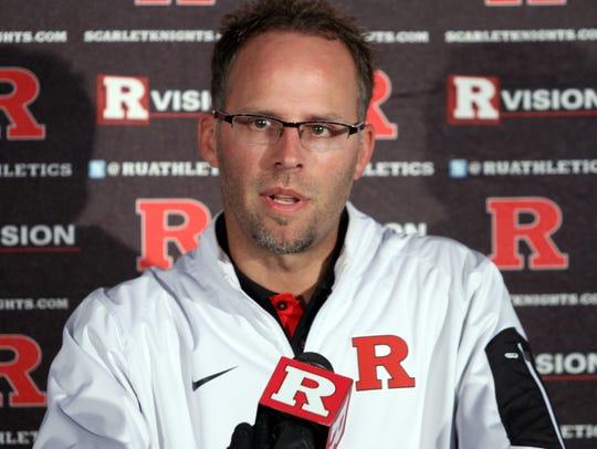 Rutgers offensive coordinator Ben McDaniels speaks