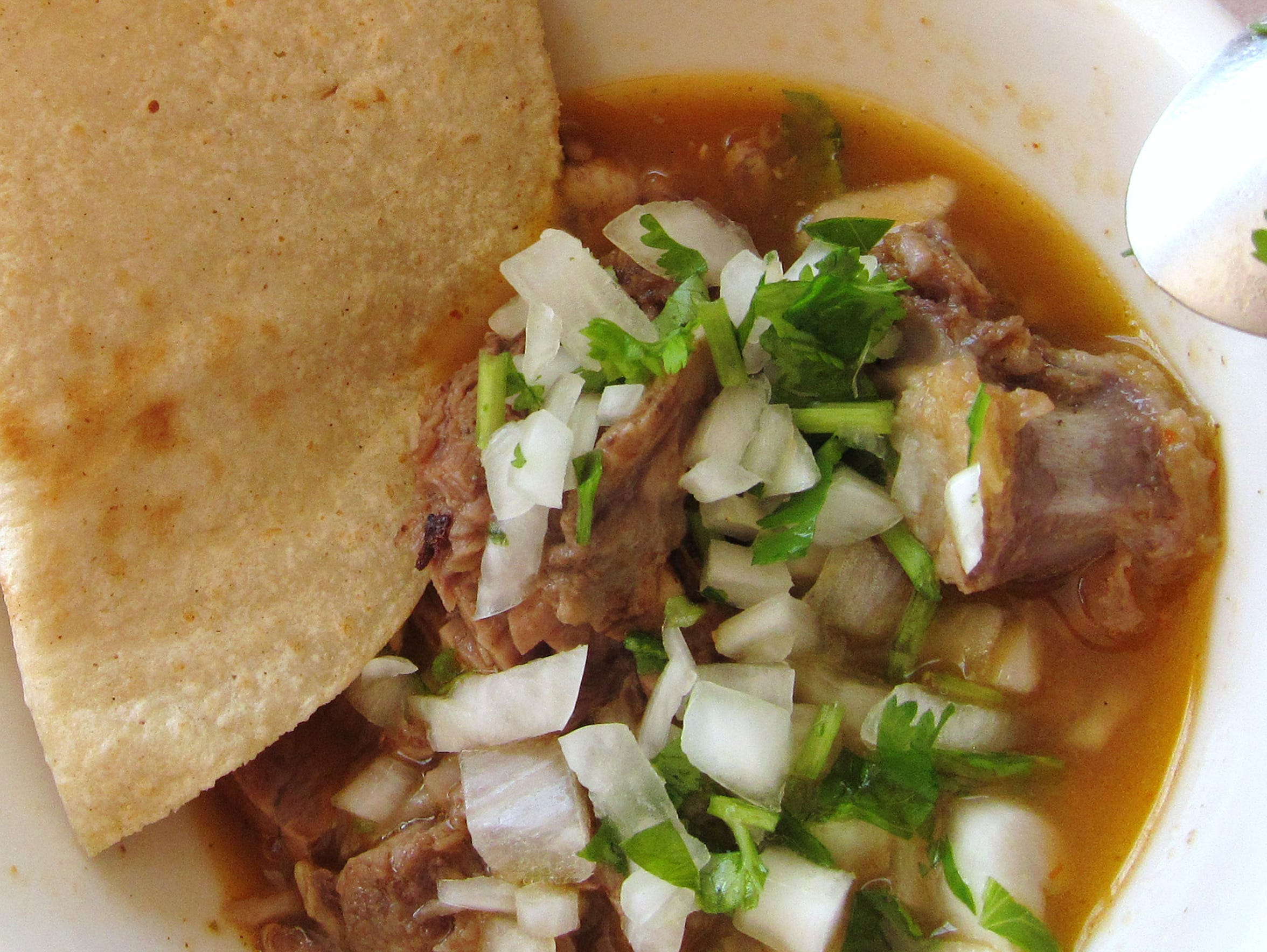 Horseshoe's birria is mild-mannered, but it has its