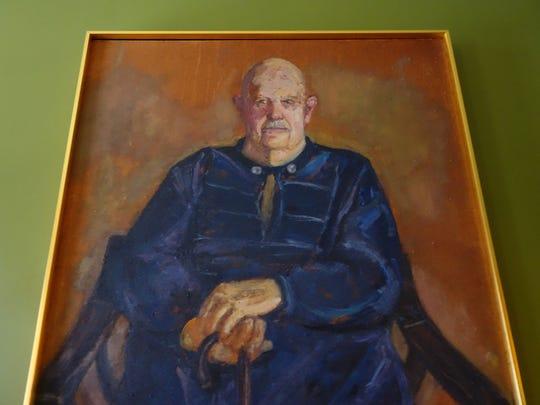 A portrait of James Beard at the James Beard House