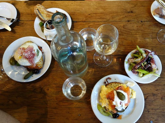 Campbell, Hebert and Fletcher take in lunch at Buvette