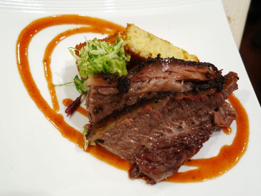 The fifth course: Smoked wagyu brisket from Scott Holmes.