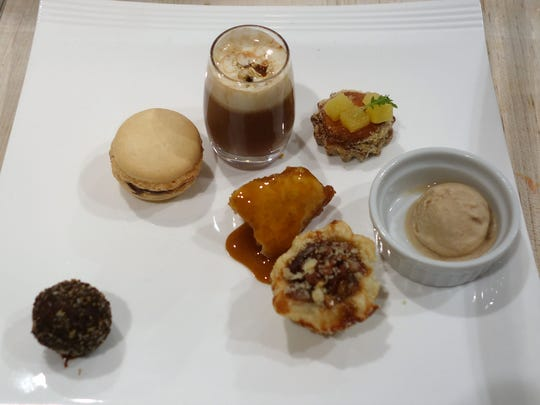 The dessert course: Seven tastes, one from each chef.