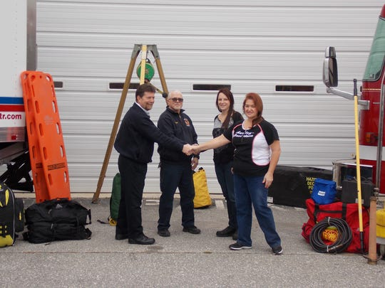 The Harley-Davidson Motor Company recently donated 6,359 pounds of safety equipment from the plant's emergency response team to the York County Advanced Technical Rescue team and the York County Fire School.