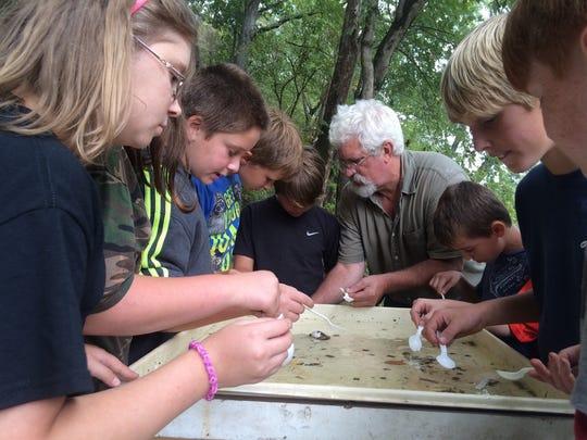 Visitors enjoy a river program at Henry Horton State Park.