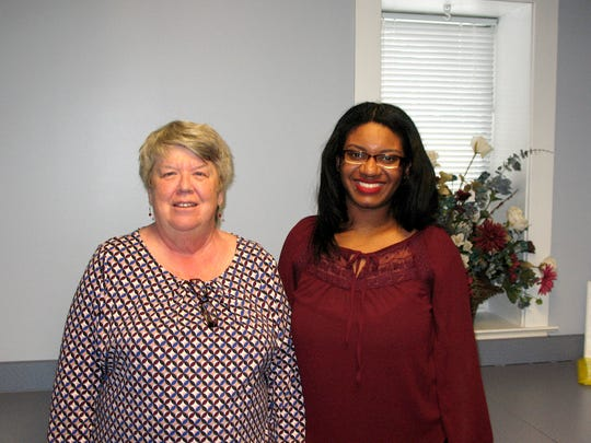 From Left: Beth Conrad, administrative assistant, and Tanika Colson, meal coordinator, at Red Lion Area Senior Center.