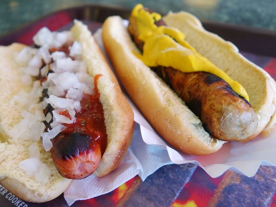 Dress up a hot dog or brat from Ted's Hot Dogs in Tempe