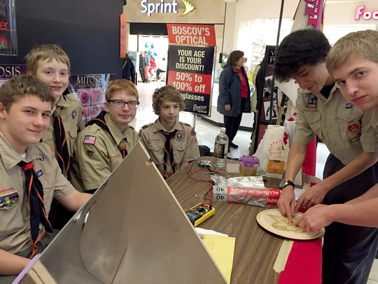 A combined 20 Boy Scout and Cub Scout Troops made their