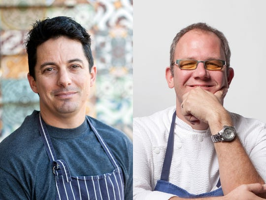 Chefs Chris Curtiss (L) and James Porter have both