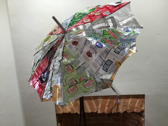 """Gregory Potter of Red Lion Area High School won third place with this entry titled, """"Umbrella, ella, ella, eh, eh, eh."""""""