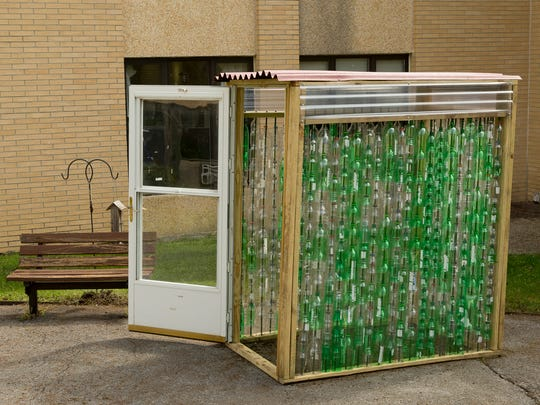 Cayuga Ridge's new plastic bottle insulated greenhouse