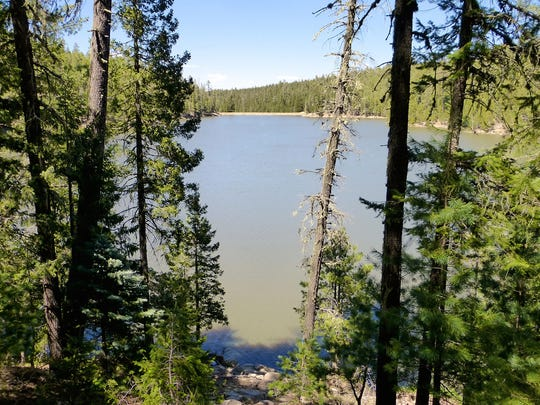 Remote Bear Canyon Lake requires a quarter-mile hike