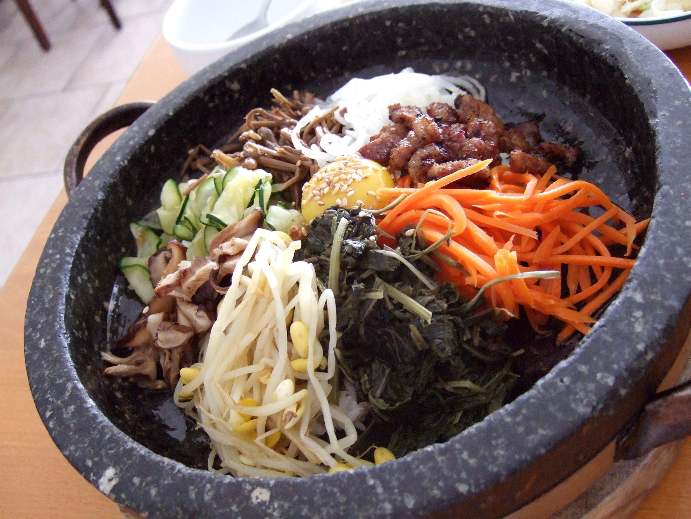 The bibimbap dish from Hodori, a restaurant serving