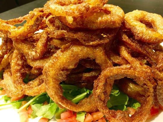 The onion rings at Ten Pins Down at the UltraStar Multi-tainment