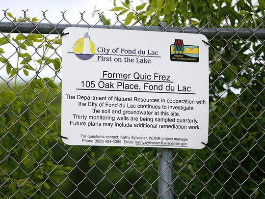 The former site of Quicfrez at 105 Oak Place in Fond du Lac has been fenced off since 2004 because the site is toxic. The Department of Natural Resources plans to use a cleanup plan that calls for tree planting at the site.