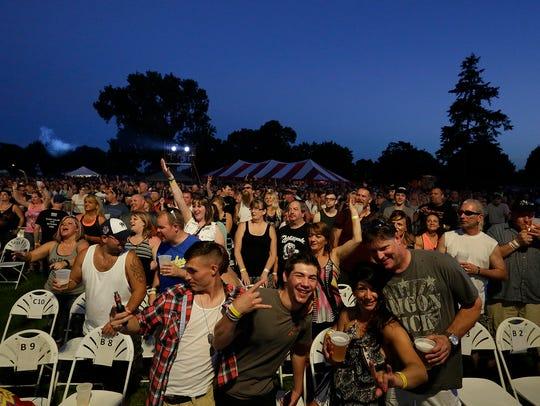 Jackyl headlined Saturday night at Walleye Weekend 2016 in Lakeside Park, Fond du Lac.