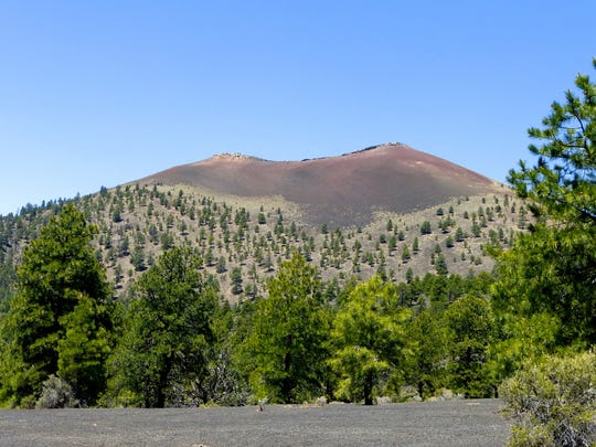 Sunset Crater is the youngest of the volcanoes surrounding