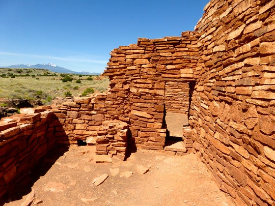 A short trail leads to the Lomaki Pueblo perched on