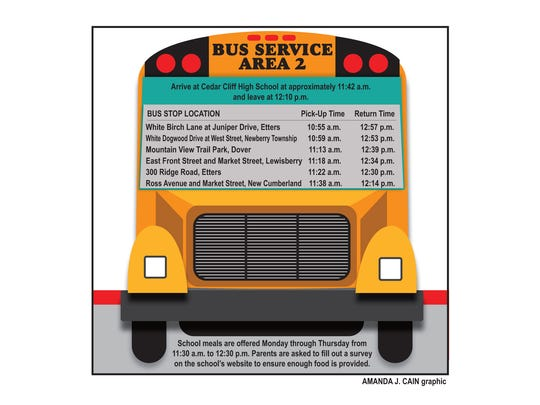 West Shore offers busing to summer meals.