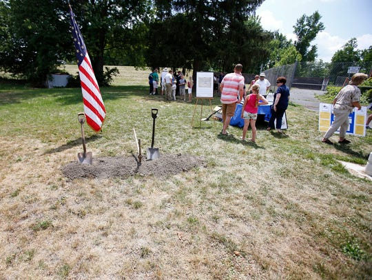 Friends of the Elmira Civil War Prison Camp broke ground