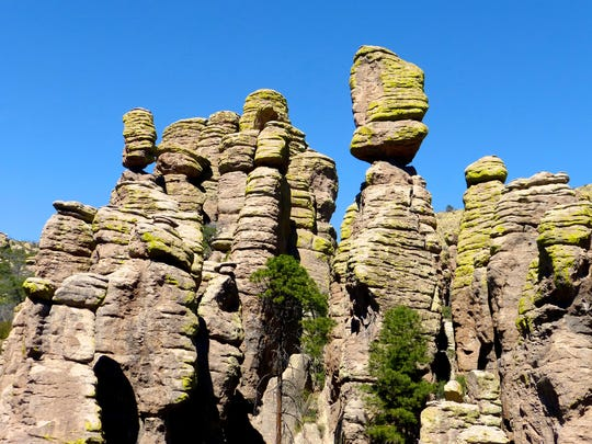 Elevation at Chiricahua National Monument ranges from 5,124 feet at the entrance station to over 7,300 feet.