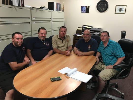 Members of the all-volunteer Valhalla (N.Y.) Fire Department