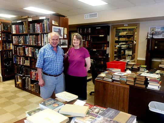 Randy and Anita Elder, owners of Elders Bookstore.