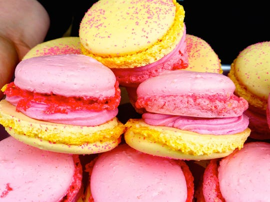 Colorful macaroons from Tourist Home pastry chef Katrin Biemann.