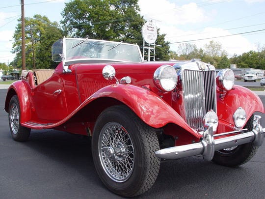 This is a 1951 MG TD that was part of a past Nashville British Car Club's show