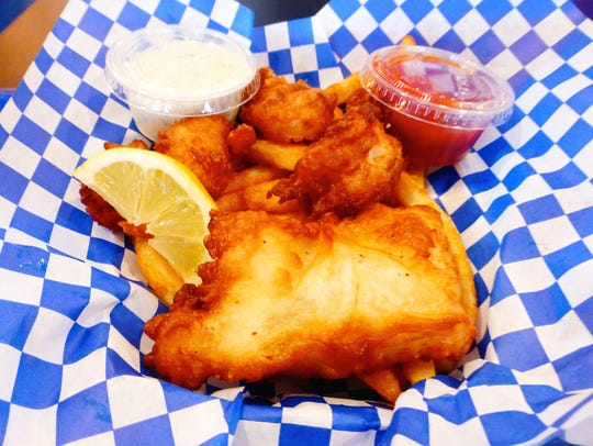 The Combo 1 at Mike's Fish and Chips includes a piece