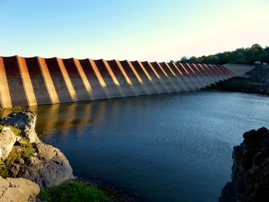 The first large steel dam in the world was built in