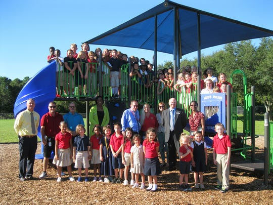 A new playground was unveiled this week at Dr. Carrie D. Robinson Littleton Elementary.