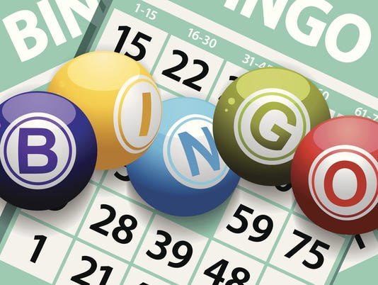 bingo balls on a card background