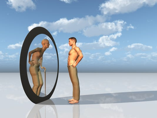 Youth sees future self in mirror
