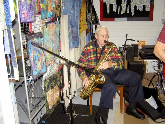 Retired physician Joe Mock is on sax.