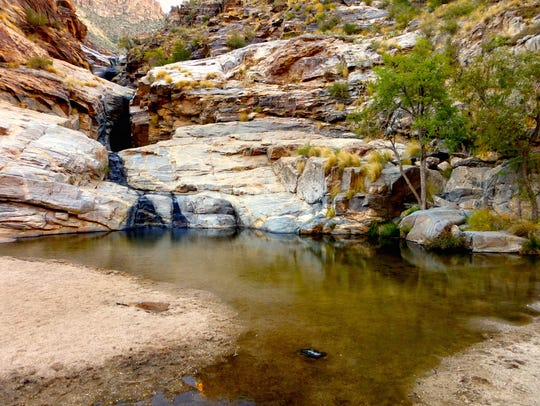 Even during dry times when the cascades of Seven Falls