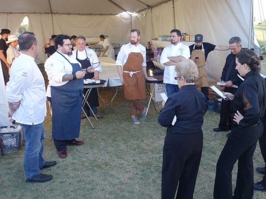 Chefs Alex Stratta, Bruce Kalman, Chris Bianco, Kevin