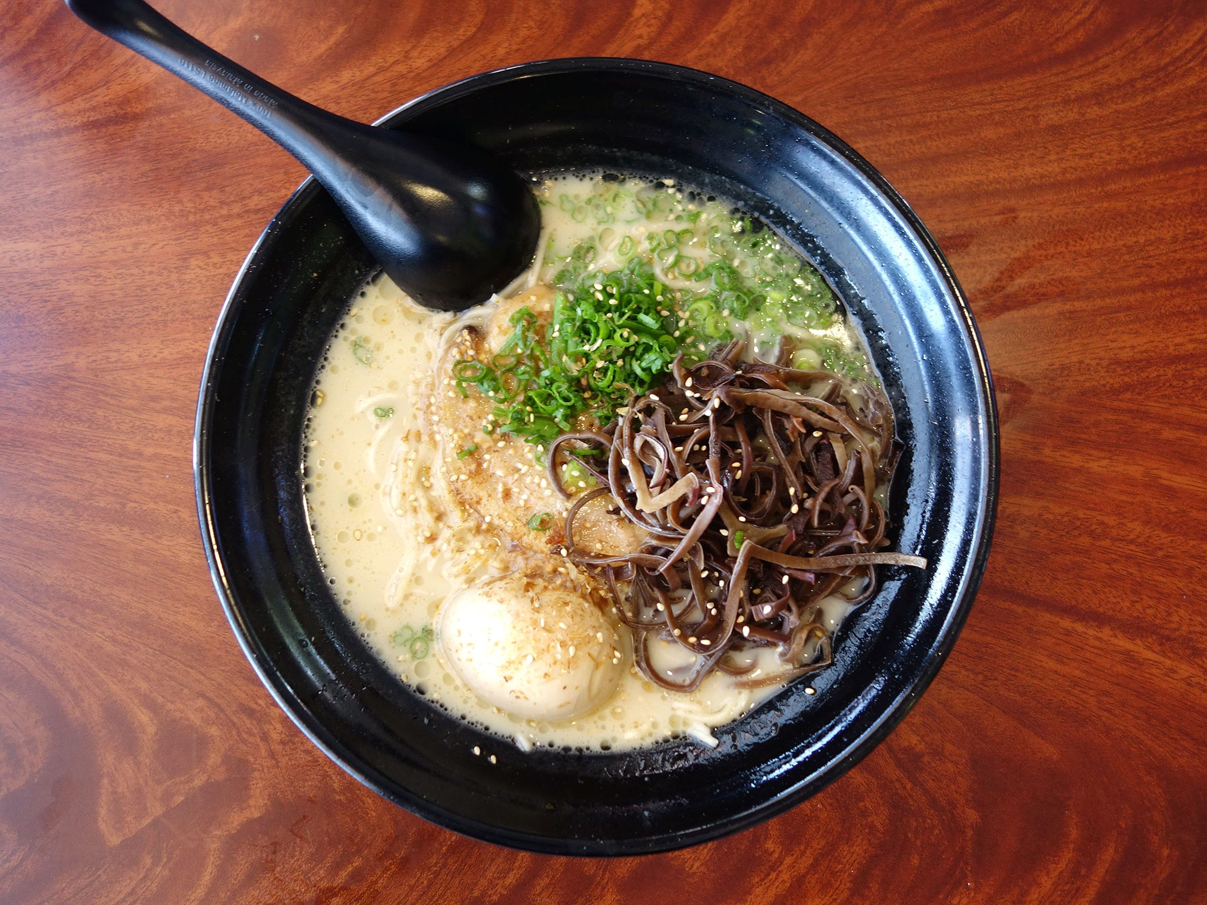 Nishikawa's broth has a perfectly clean scent, and is creamy and rich without going over the top.