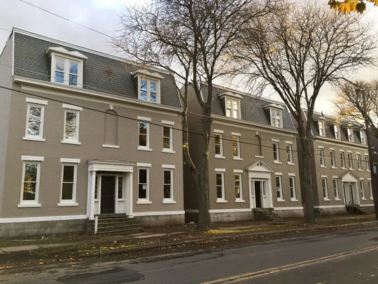 The Jackson Row Houses on Water Street are under renovation