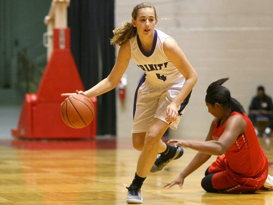 Trinity Christian Academy's Macey Lee (4) had success on the middle school level, and it has quickly transferred over to the high school level this year.
