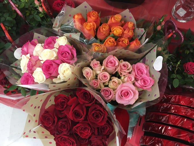 Valentine roses prices range from $12.99 to more than