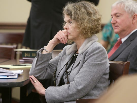 Jennifer Thompson, Zachary Adams' attorney, is seen