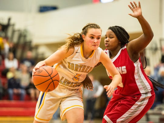 Liz Voight's game-high 16 points helped the Northern Lebanon girls to a 51-25 state playoff win over Mifflinburg on Thursday.