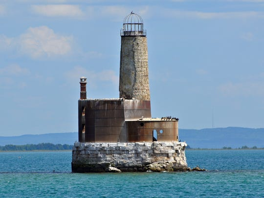 The Waugoshance lighthouse was arguably the first light built in the Great Lakes that was totally surrounded by water.