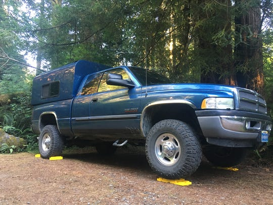 Camping in Redwoods State Park in northern California.