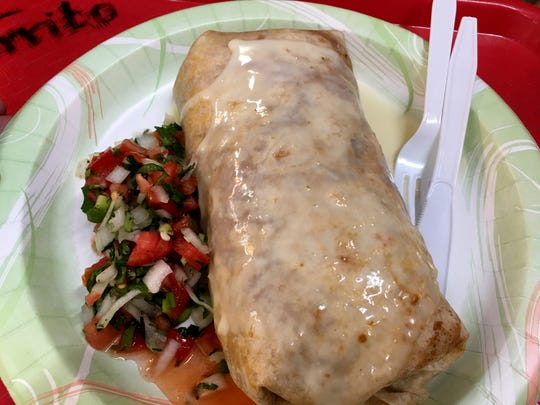 "El Burrito's ""Burrito As Big As Your Head"" is priced"